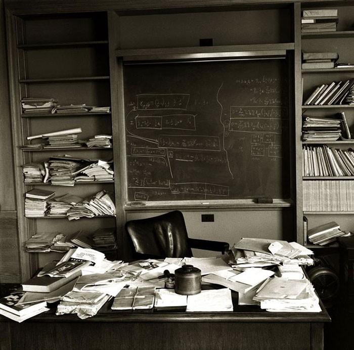 Albert Einstein's office photographed by Ralph Morse (Albert Einstein's Incredible Work Ethic)
