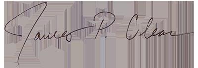 James Clear signature