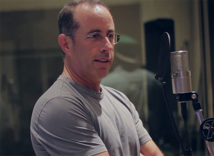 Jerry Seinfeld during the recording of The Album About Nothing.