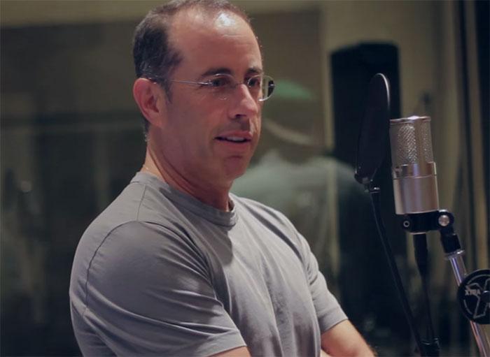 Jerry Seinfeld durante la grabación de The Album About Nothing.