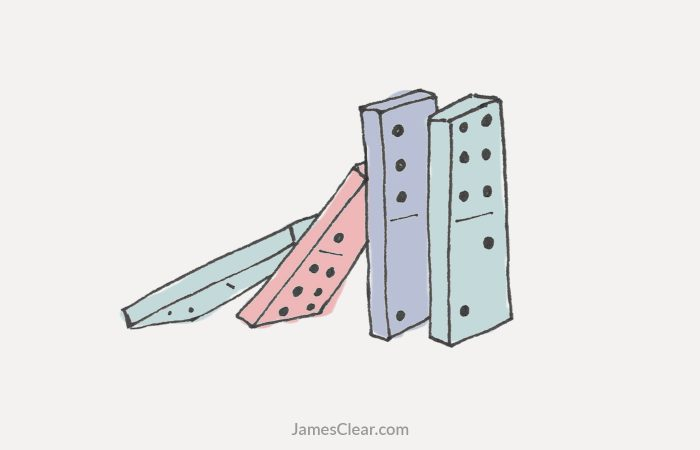 use the domino effect to change a habit