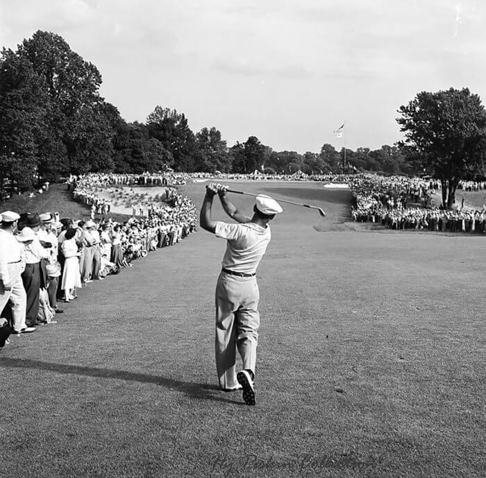 Ben Hogan's 1 iron shot at the 1950 US Open by Hy Peskin
